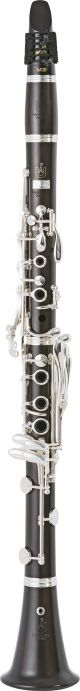 Uebel 899L Superior Clarinet in Bb. Boehm system. Wooden body. Silver plated key