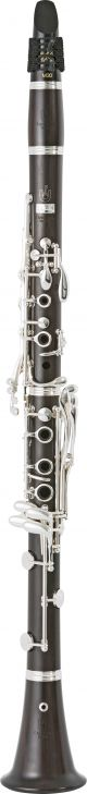 Uebel 899L Superior Clarinet in A. Boehm system. Wooden body. Silver plated keys
