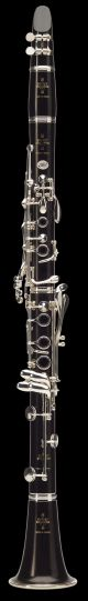 Buffet RC BC1111 Bb Clarinet. Wooden body. Silver plated keywork. Brown leather