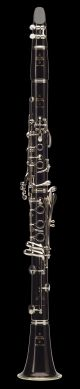Buffet R13 BC1131 Bb Clarinet. Wooden body. Silver plated. Brown leather single