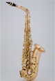 Chateau Chenonceau alto saxophone. Gold lacquer finish. Back pack case.