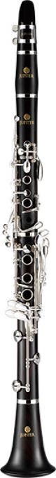 Jupiter JCL1100S Bb Clarinet. Wooden body. Silver plated keys.