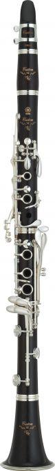 Yamaha YCLSEVR Custom Bb Clarinet.  Wooden body. Silver plated keys.
